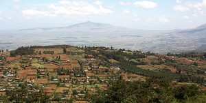 A view of the Great Rift Valley from the Nakuru-Nairobi highway view point.